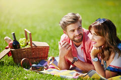 Young couple planning their future Royalty Free Stock Images