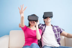 Young couple play vr game Royalty Free Stock Photography