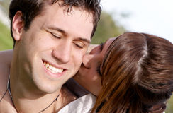 Young couple playing around Royalty Free Stock Images