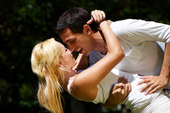 Young couple playing around Stock Image