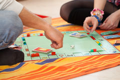 Young couple playing a game Royalty Free Stock Photos