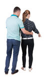 Young couple pointing. Royalty Free Stock Photography