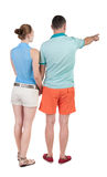 Young couple pointing. Stock Photography