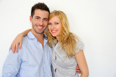Young couple portrait royalty free stock image