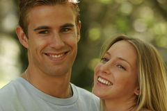 Young couple portraits. Young married couple spending time together Royalty Free Stock Photo