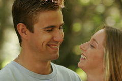 Young couple portraits. Young married couple spending time together Royalty Free Stock Image