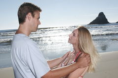 Young couple portraits Royalty Free Stock Photos