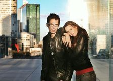 Young couple posing Stock Images