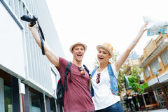Young couple posing for a photo Stock Images