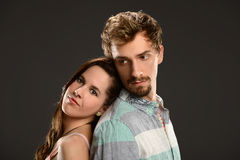 Young Couple Posing Stock Photography