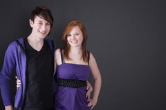 Young couple posing together Stock Images