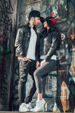 Young couple posing Stock Image