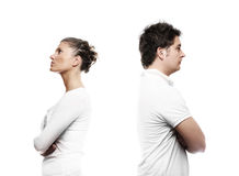 Young couple with a problem Stock Images