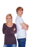 Young couple with problems brawl Royalty Free Stock Photography