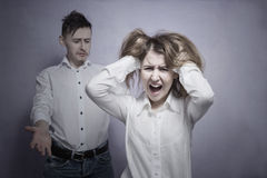 Young couple problems Royalty Free Stock Image