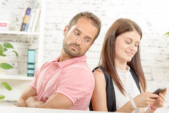 A young couple with problems Stock Images