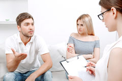 Young couple at psychologist Stock Photography