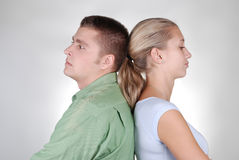 Young couple in a quarrel Royalty Free Stock Photos