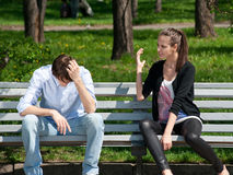 Young couple in quarrel Royalty Free Stock Photography