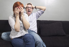 YOUNG COUPLE IN QUARREL Stock Photography