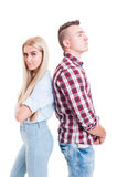 Young couple after quarrel, dispute or fight Royalty Free Stock Photography
