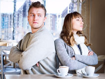 Young couple in quarrel Royalty Free Stock Images