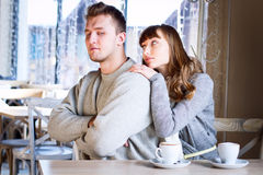 Young couple in quarrel Stock Image