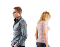 Young couple quarreled Royalty Free Stock Images