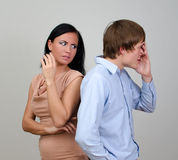 Young couple quarreling. royalty free stock photo