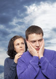 Young couple quarreling Stock Photography