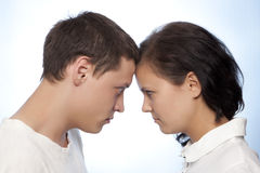 Young couple quarreling Royalty Free Stock Photo