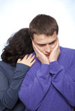 Young couple quarreling Stock Image