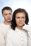 Young couple quarreling Royalty Free Stock Photos