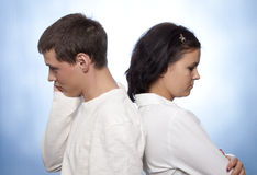 Young couple quarreling Royalty Free Stock Image
