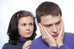 Young couple quarreling Stock Images