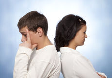 Young couple quarreling Stock Photos