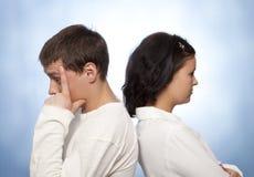 Young couple quarreling Stock Photos