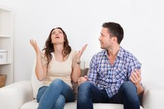 Young couple quarreling Royalty Free Stock Images