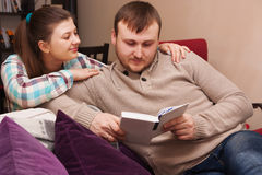 Young couple  reading book Stock Photo