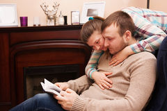 Young couple  reading book Royalty Free Stock Photo