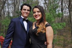 Young Couple Ready for Their Prom stock photos