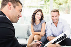 Young couple ready to buy new house Stock Photo