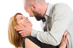 Young couple ready to kiss Royalty Free Stock Photos