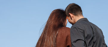 Young couple rear view Stock Photography