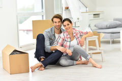 Young couple recently moved into new home Stock Images