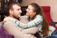 A young couple. Reconciliation after a conflictconflict Stock Photography