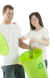 Young couple recycling Stock Photography