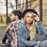 Young couple with relationship difficulties Royalty Free Stock Photo