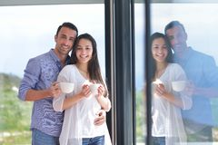 Young couple relax at home Stock Photo