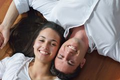 Young couple relax at home Royalty Free Stock Images